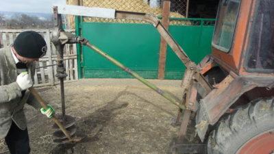 Ямобур на трактор своими руками