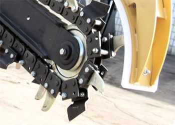 Траншеекопатель для мотоблока своими руками