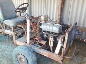 Самодельный трактор с дизельным двигателем